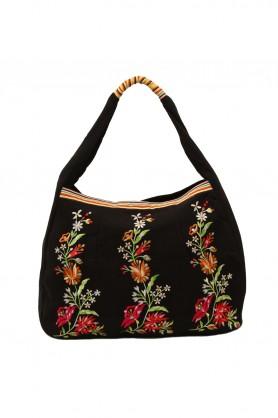 Fl Embrored Black Bag