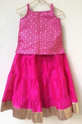 Pink lehanga for kids
